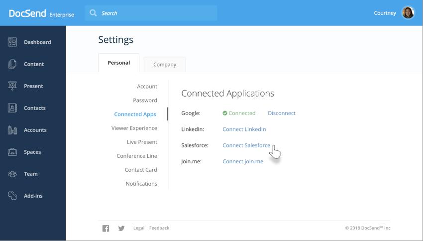 DocSend Salesforce Settings