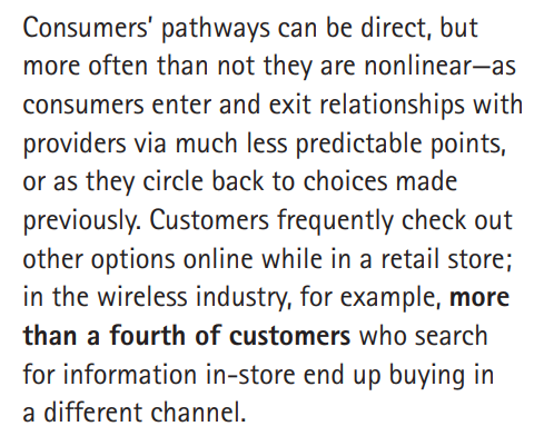 Accenture's non-linear customer pathways