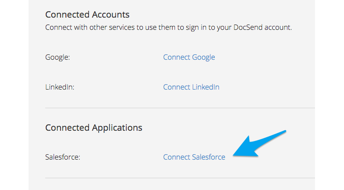 Connect Salesforce to DocSend