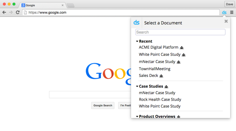 DocSend for Chrome