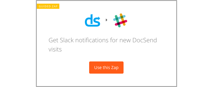 Get notifications in Slack when you get a new DocSend visit