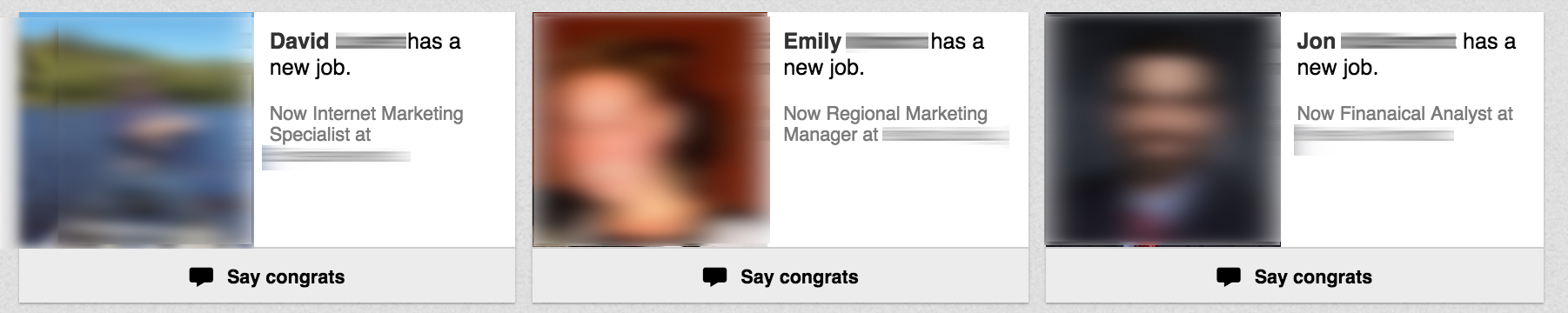 New Connections on Linkedin that Have Changed Jobs
