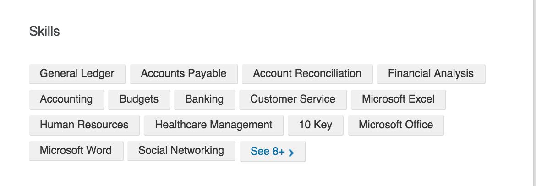 Accounting focused Linkeidn