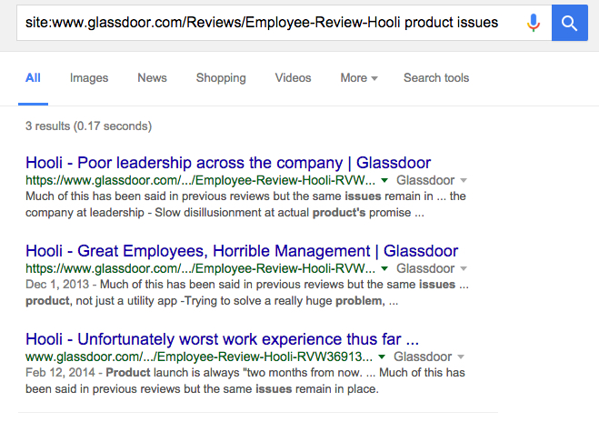 Reviews of Hooli on Glassdoor