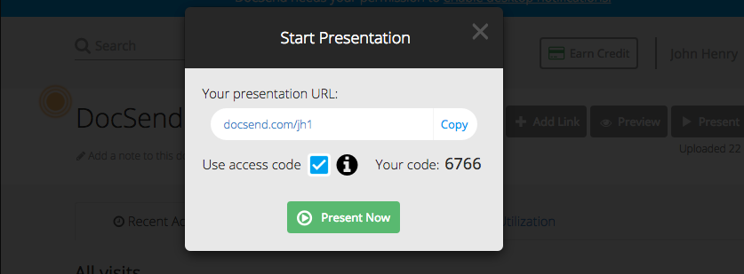 live present docsend access code pic