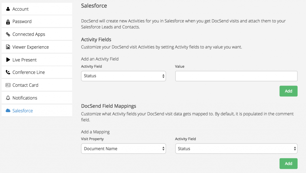 docsend salesforce integration image 1