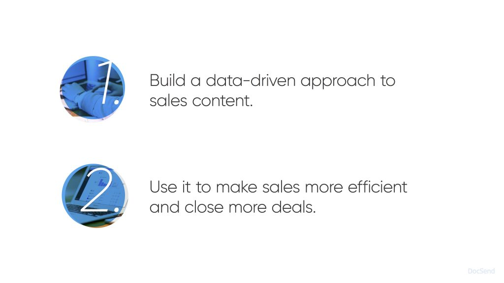 New DocSend sales deck - Slide fifteen - tracking sales content