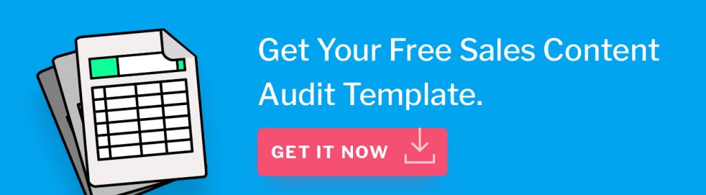 sales content audit template download CTA
