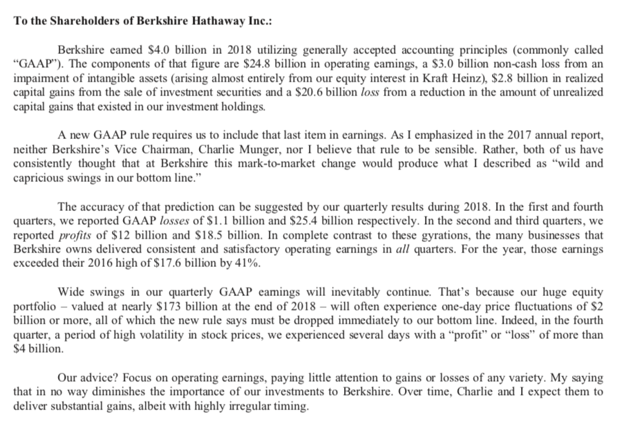 Warren Buffet's shareholder letters for Berkshire Hathaway Inc.